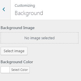 Customize background