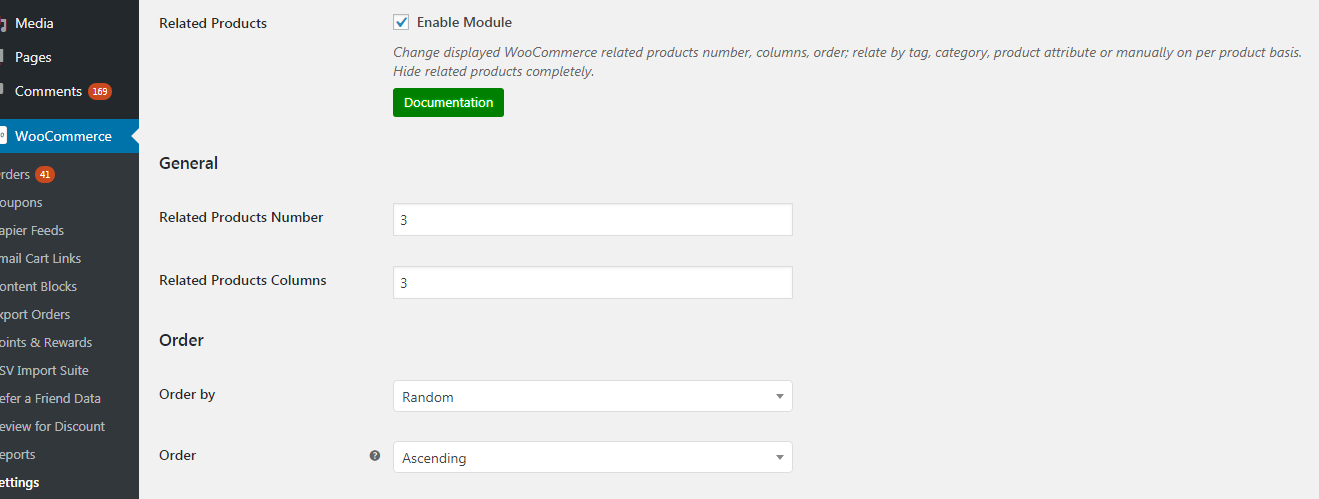 Enable related products