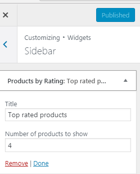 Show top rated products