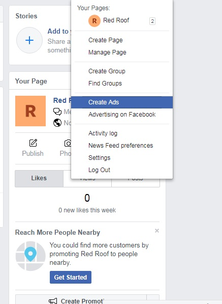 Creating ads to promote products on Facebook