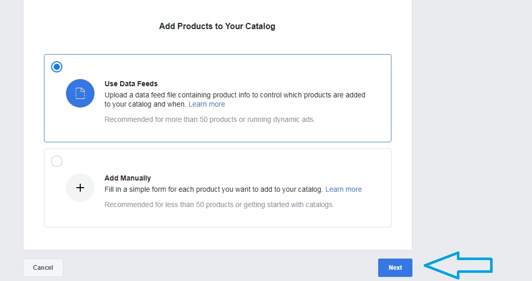 Adding products to Catalogue