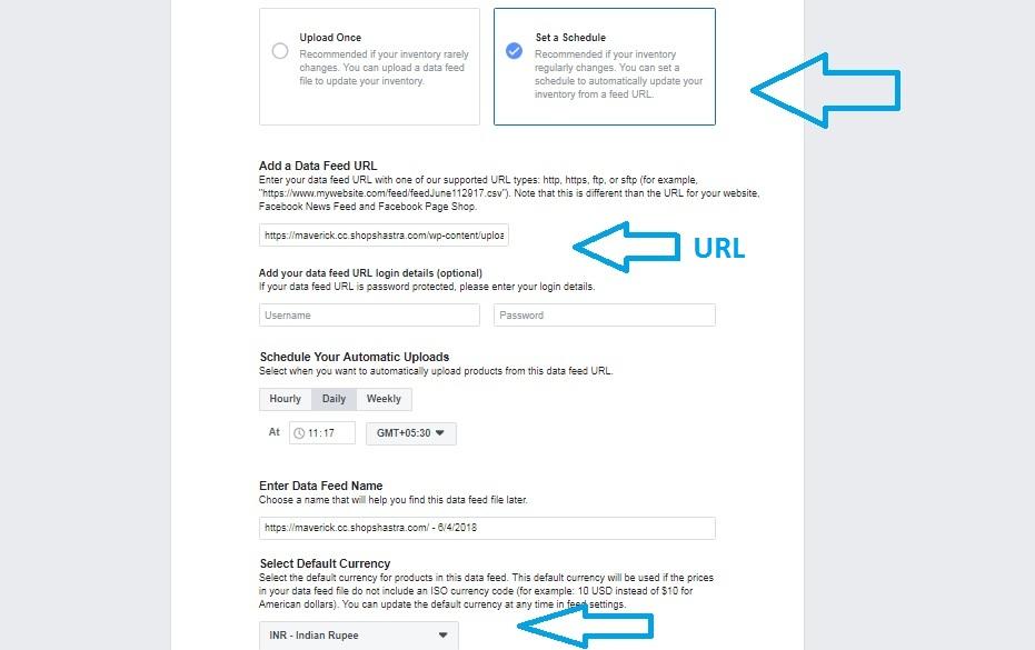 Facebook Catalouge URL