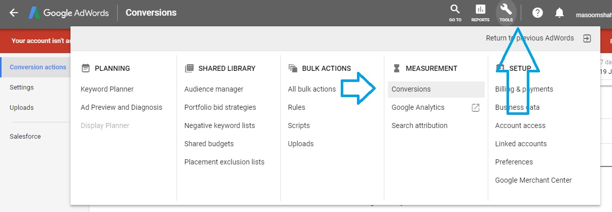 Conversion tracking in AdWords