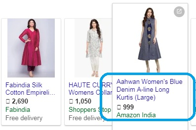 Google Shopping Product title