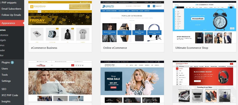 WooCommerce layouts